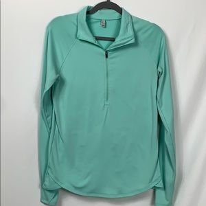 Under Armour teal blue 1/2 zip pullover Lg
